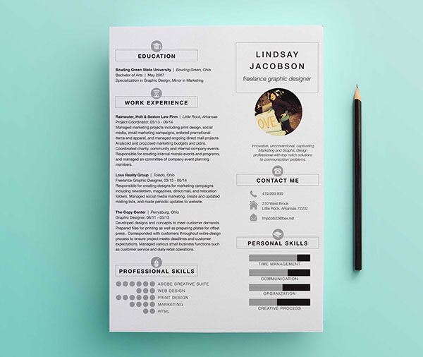 Charming Graphic Designer Resume Template On Behance
