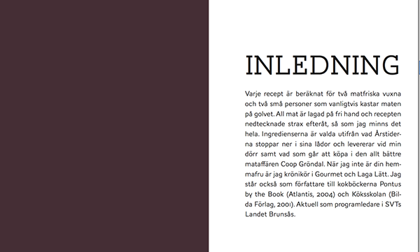 berghs cookbook font type