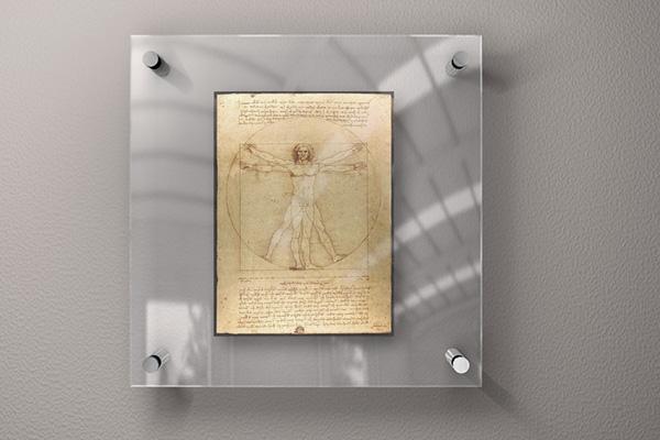 Glass Frame for Art - Mock-Up on Behance