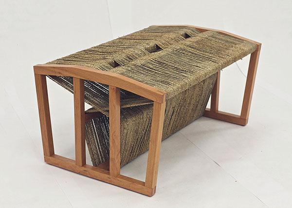 Seagrass Wrapped Bench On Risd Portfolios