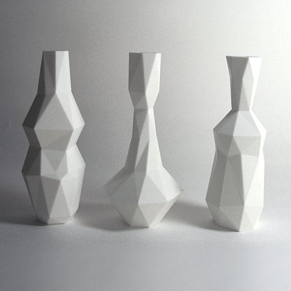 Cubist Vases 3d Printed On Behance