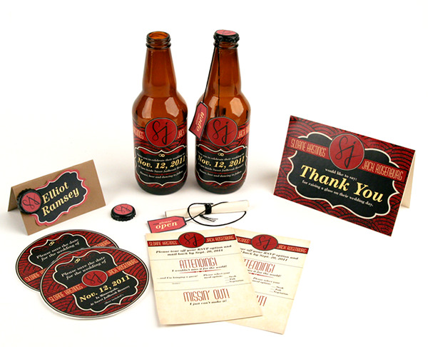 Fresh Beer Bottle Wedding Invitations on Behance RD12