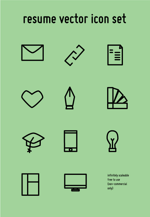resume icon set  free download  on behance