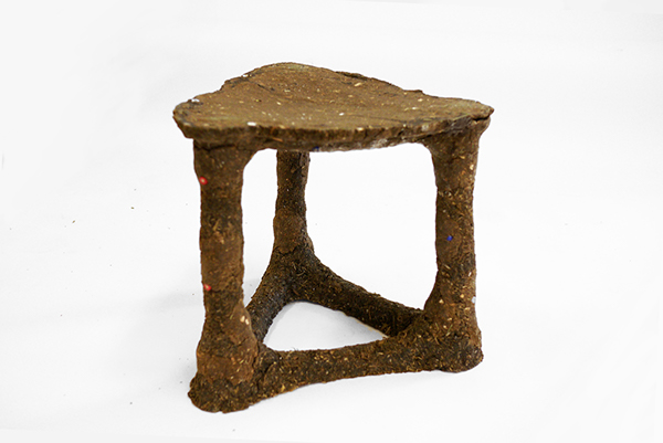 sawdust Composite material material exploration stool chair furniture recycle reuse