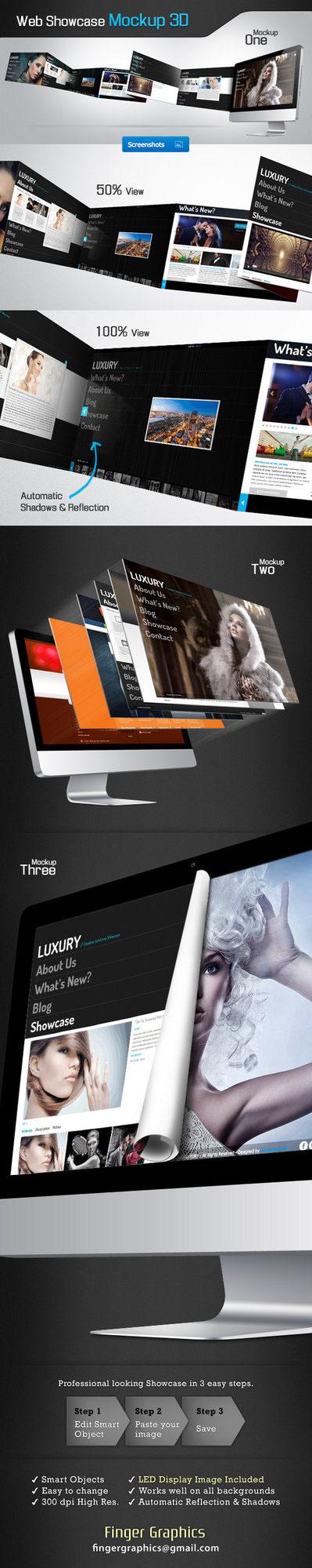 Webdesign  photoshop  mockup graphicriver presentation Web
