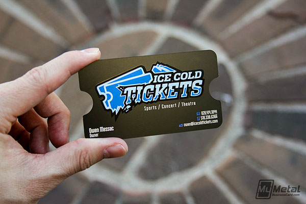 our designers are always striving for innovative ideas to increase brand awareness for our clients we produced a black metal card for ice cold tickets that