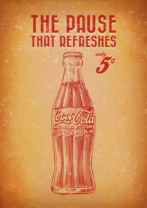 Populair Coca Cola ® - Vintage posters on Behance #VZ65