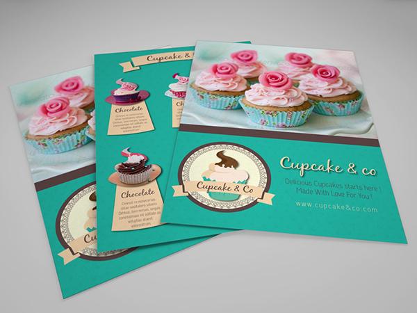 Cupcake Cake Design Templates : Sweet & Cupcake Flyer V2 on Behance