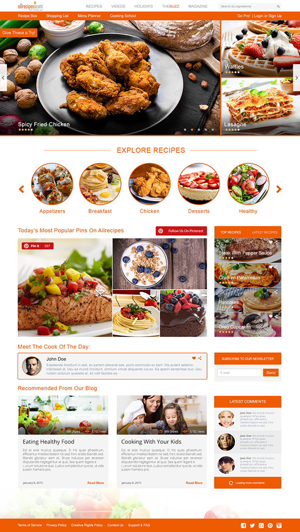 Allrecipes concept redesign free download on behance thank you for watching forumfinder Choice Image