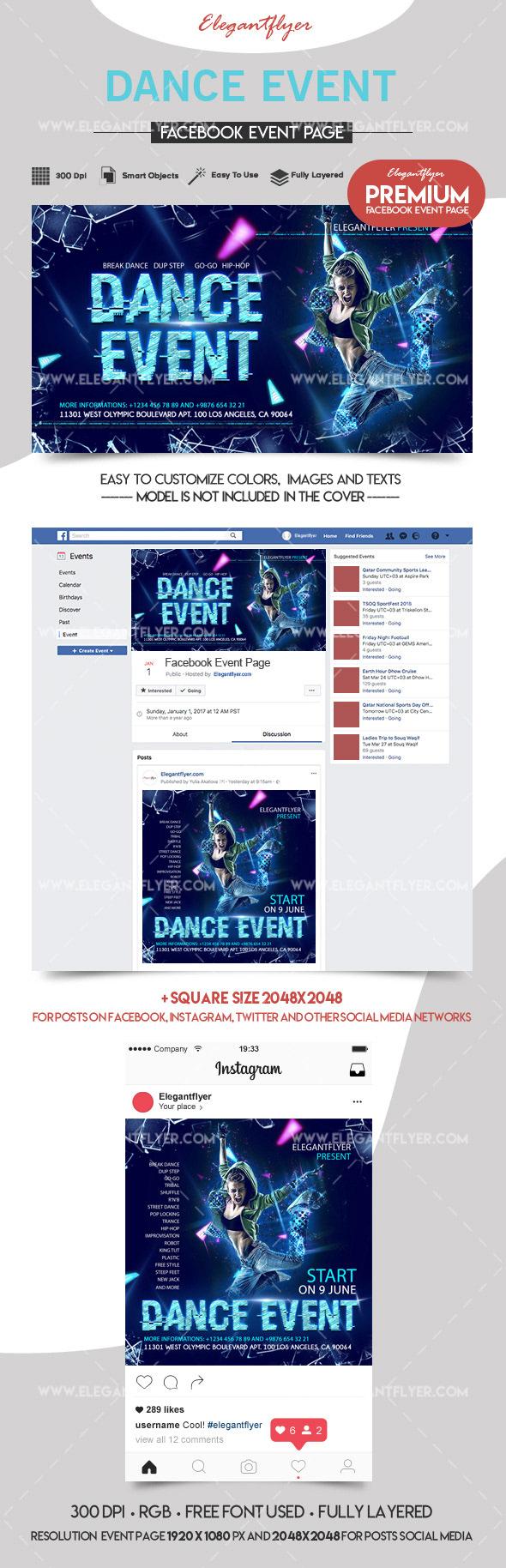 Dance Event – Facebook Event + Instagram template on Behance