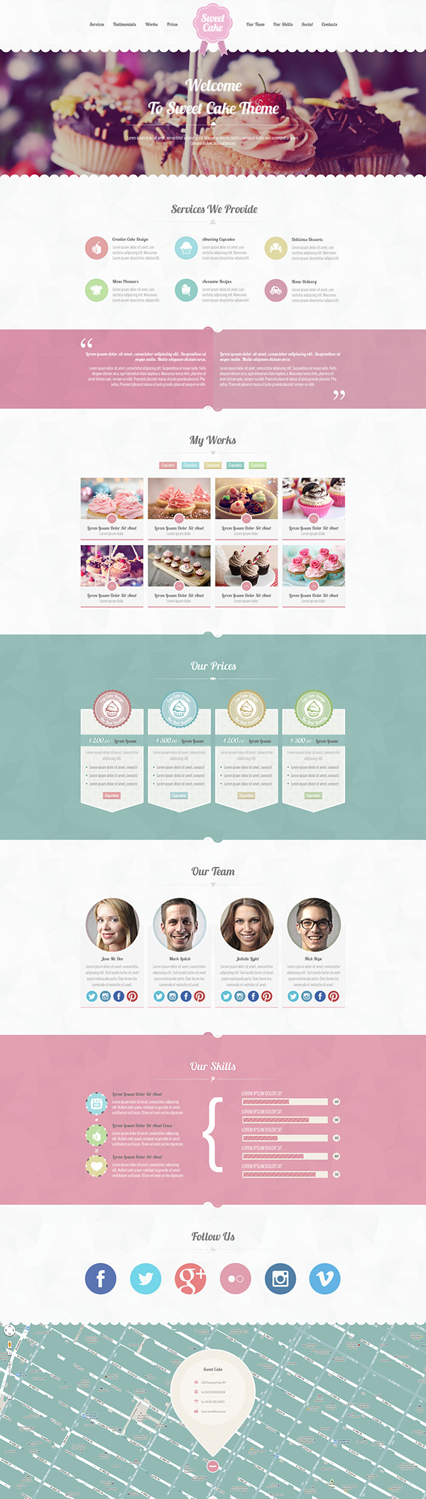 Website site Webdesign template One Page Single Page psd psd template creative modern clean
