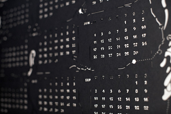 2012 Laser Cut Calendar On Behance