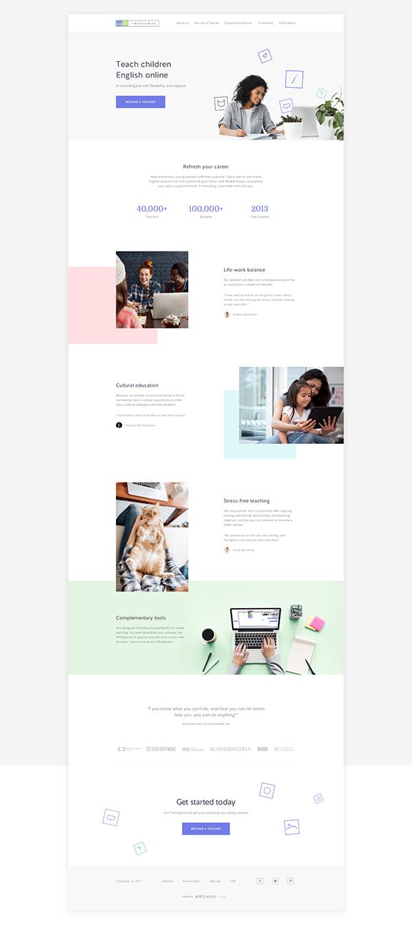 Online tutoring platform: Twosigmas