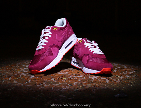 check out 7d04f 376d4 Nike Air Max 1 Barcelona iD aka Poor Mans Cherry Wood on Beh