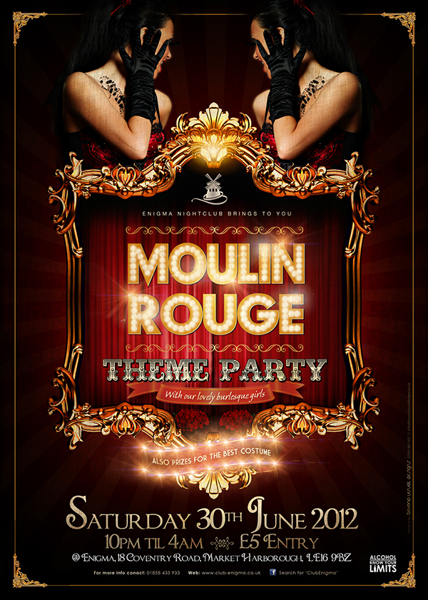 Moulin Rouge - Flyer Design on Behance