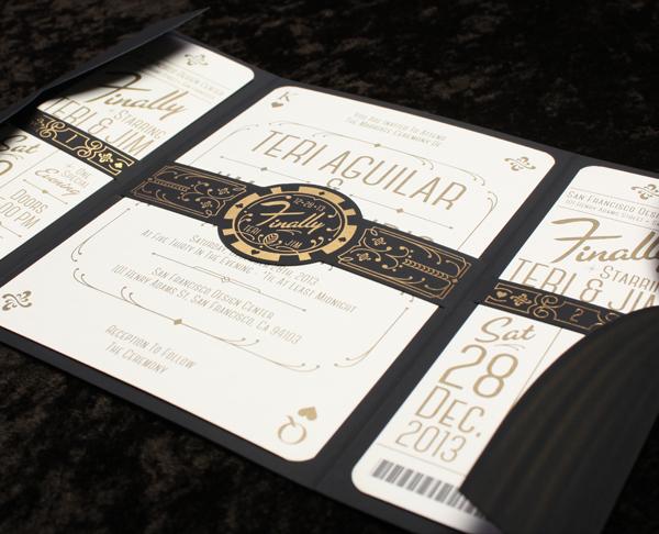 Mercurio Wedding wedding invitations Wedding Invites Vintage Las Vegas Vegas