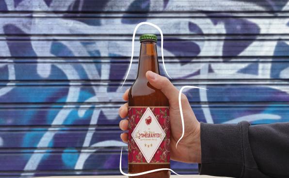 beer design graphic Label