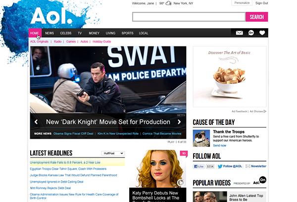 AoL slider news