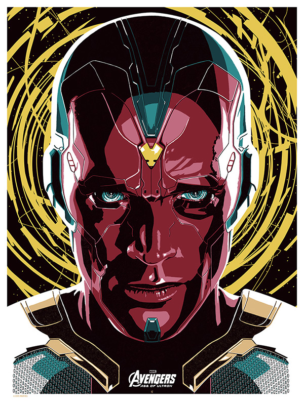 VISION - AVENGERS AGE OF ULTRON. by The Dark Inker