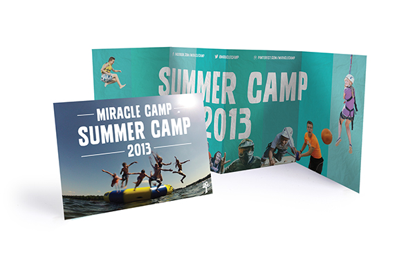 brochure Accordion-fold Brochure Miracle Camp summer camp Kids Camp Christian Camp