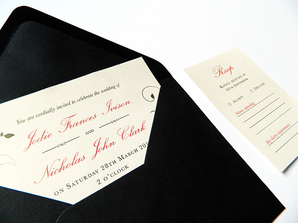 Wedding invitations on behance i had also incorporated a bit of branding into the design of the invitations and rsvps by making a logo out of the first initials of the bride and groom stopboris Images