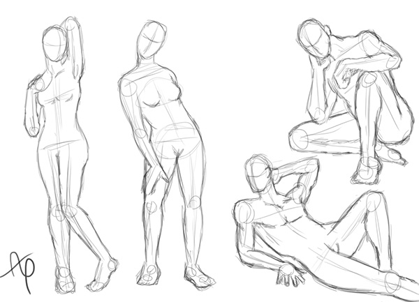 Pose Practice On Behance