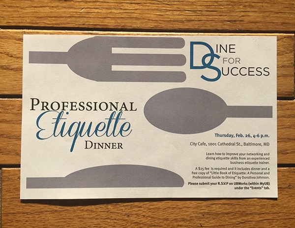 professional etiquette dinner flyer on behance