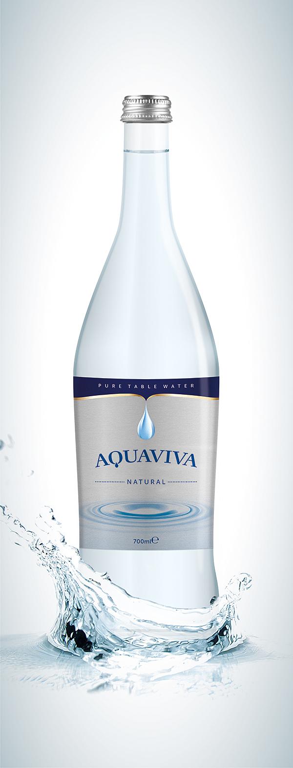 aquaviva water packaging on behance. Black Bedroom Furniture Sets. Home Design Ideas