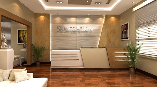 Skin clinic concept on behance for Dermatology clinic interior design