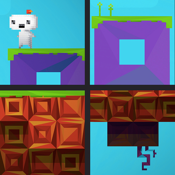 Fez polygon Low Poly vector video game Fan Art