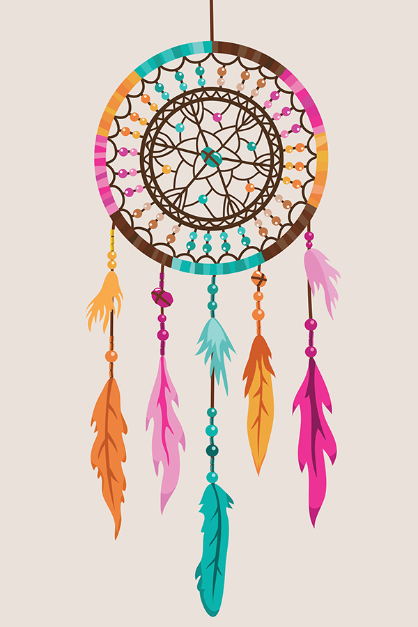 Vector Dream Catcher illustration. on Behance