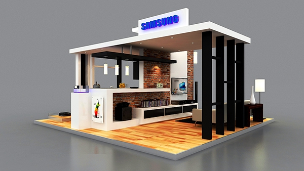 Jewellery Exhibition Booth Design : Samsung smart home booth on behance