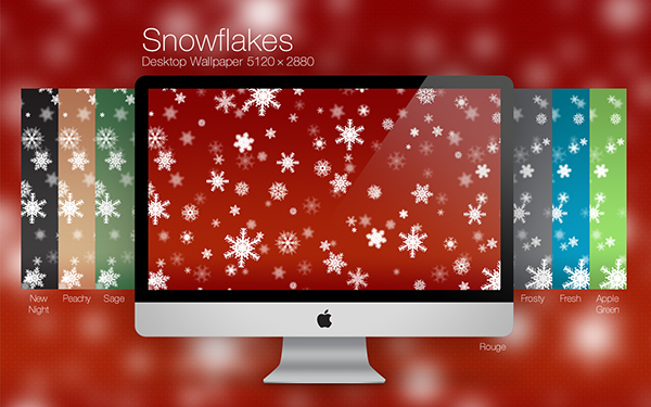 Christmas snowflakes wallpaper desktop background mac PC 5120×2880 jpeg