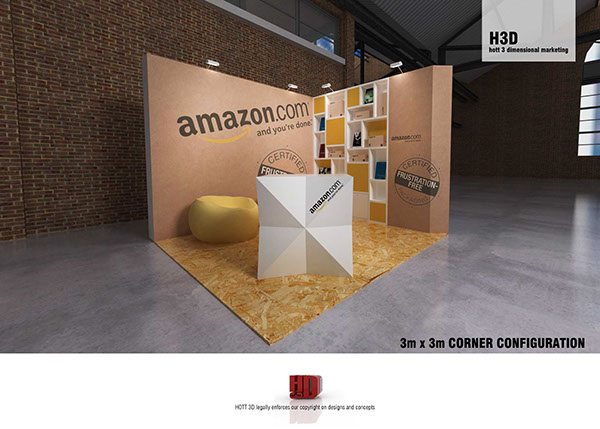 Amazon web dev cape town x board exhibit on behance for Bathroom designs 3m x 2m