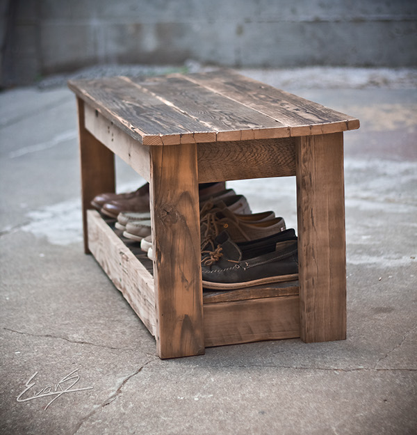 Reclaimed Wood Table/Bench on Behance