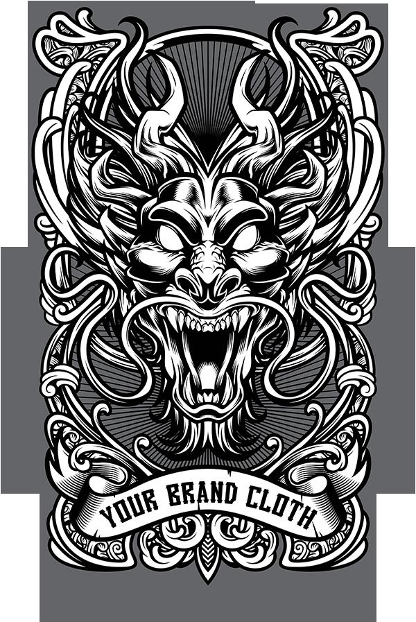 dragon vector tshirt design template on behance