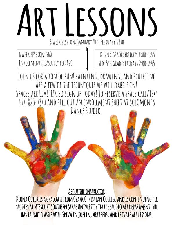 art lessons flyer on behance
