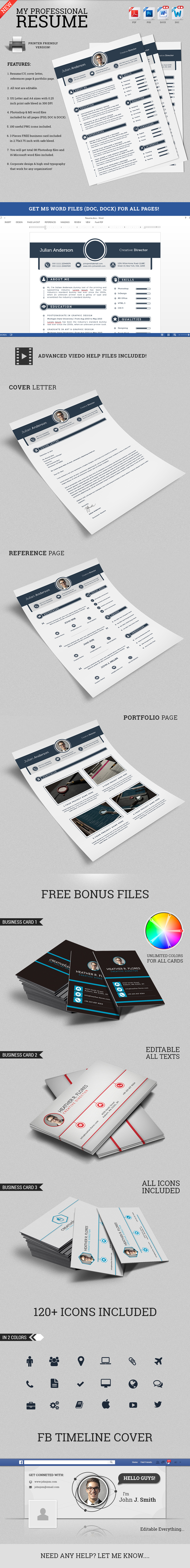 my professional resume cv set on behance the professional resume cv set template is designed to make your printing experience even better neatly designed layout cmyk color and layer
