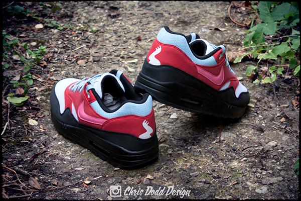 Nike Air Max 1 x Parra 'Running Man' Custom on Pantone