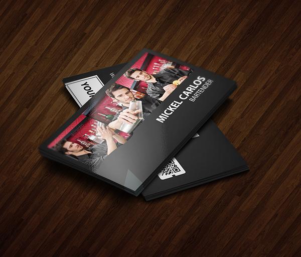 Bartender business card on behance colourmoves
