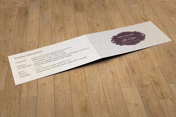 Dl Folded Invitation Card Mock Up On Behance