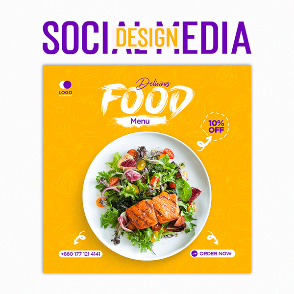 Social Media Post Design | Food post