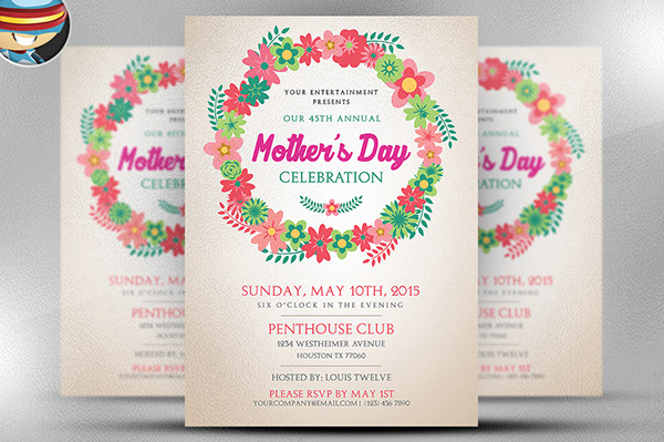 Mothers Day Flyer Templtate on Behance – Mothers Day Flyer