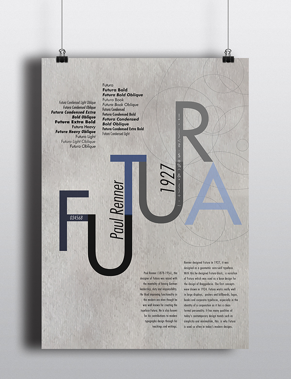 Futura Typographic Project on Pantone Canvas Gallery