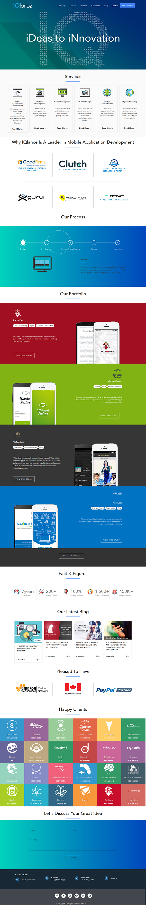 Perfect Designing ideas for Business Website  on Student Show