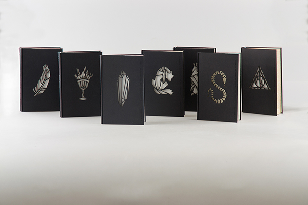 Book covers -- minmal, laser-cut designs