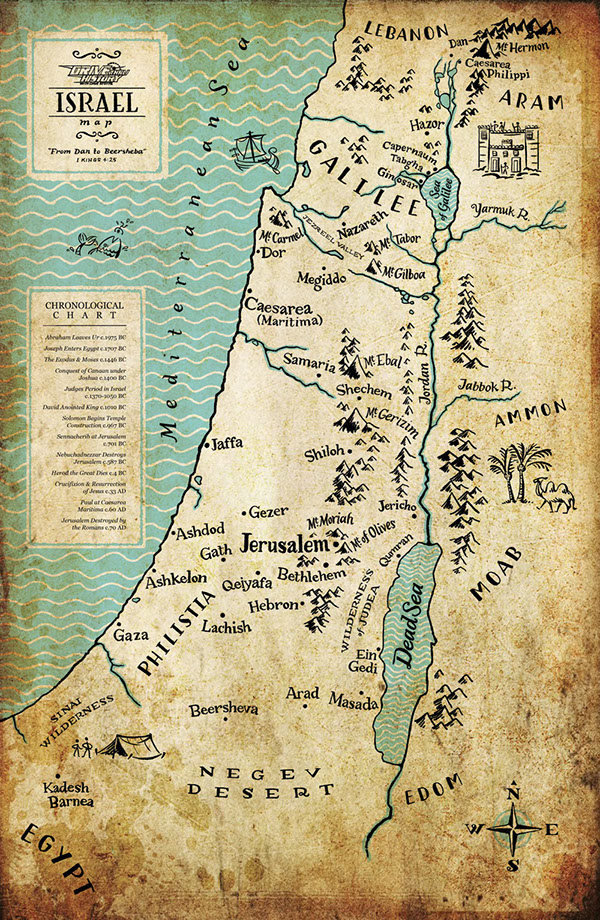 Drive Thru History Ancient Israel Map on Behance