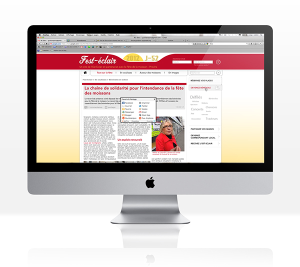 Website Conception editorial affordance grille