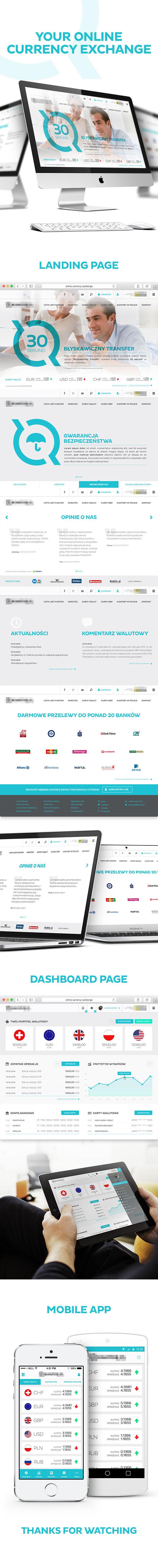 exchange online flat design flat Mobile app dashnoard application usd TRANSFER