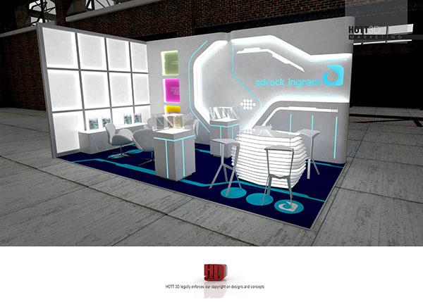 Exhibition Stand Behance : Adcock ingram tron inspired exhibition stand on behance
